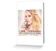 CARRIE UNDERWOOD STORYTELLER Greeting Card