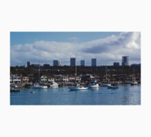 Newport Harbor Boats and Buildings Kids Tee