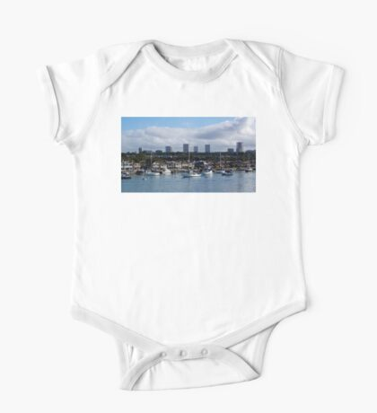 Newport Harbor Boats and Buildings One Piece - Short Sleeve