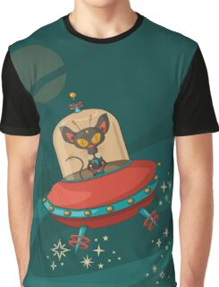 Galaxy Cat - Lost in Space Graphic T-Shirt