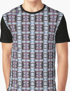 Psychedelic Kalidoscopic Glitched Clematis Flower Graphic T-Shirt