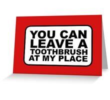 Toothbrush Greeting Card