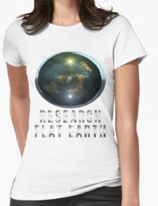 Research Flat Earth Womens Fitted T-Shirt
