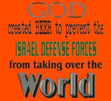 God, Beer & the IDF! Kids Tee