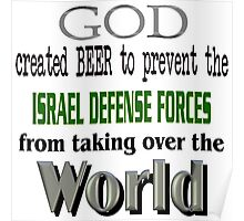 God, Beer & the IDF! Poster