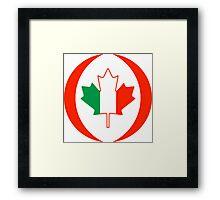 Irish Canadian Multinational Patriot Flag Series Framed Print