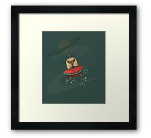 Galaxy Cat - Lost in Space Framed Print