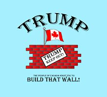 TRUMP....Build that Wall!  And Keep Out! Women's Fitted Scoop T-Shirt