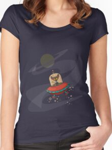 Galaxy Cat - Lost in Space Women's Fitted Scoop T-Shirt