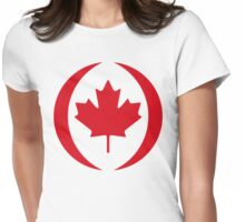 Canadian Flag 1.0 Womens Fitted T-Shirt