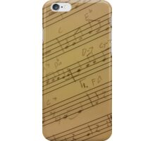 Sheet Music iPhone Case/Skin