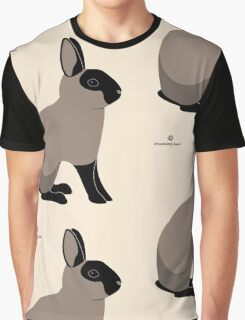 Black Sable Rabbit Graphic T-Shirt