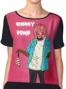 cherry  bum Chiffon Top