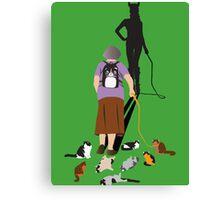 Crazy Cat Lady (Catwoman) Canvas Print