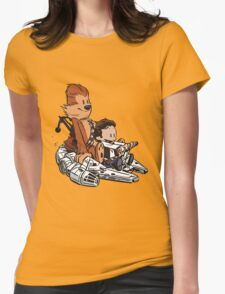 Chewie And Han Calvin And The Hobbes Womens Fitted T-Shirt