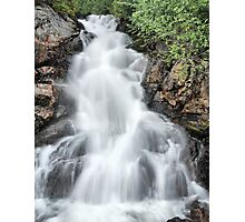 waterfall on vancouver island Photographic Print