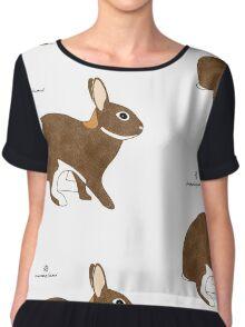 Chestnut Agouti Rabbit Chiffon Top