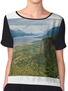 Crown Point, Vista House and Columbia River Chiffon Top