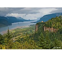 Crown Point, Vista House and Columbia River Photographic Print