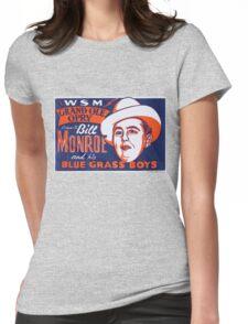 Bill Monroe Blue Grass Womens Fitted T-Shirt