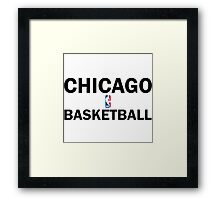 Chicago Bulls Basketball Training Design Framed Print