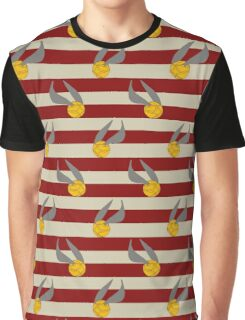 Harry Potter Quidditch Gryffindor Snitch Design Graphic T-Shirt