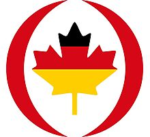 German Canadian Multinational Patriot Flag Series Photographic Print