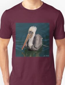 Brown Pelican With White Head Plumage Unisex T-Shirt