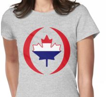 Dutch Canadian Multinational Patriot Flag Series Womens Fitted T-Shirt