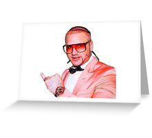 Riff Raff Peach Suit Greeting Card