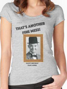 Stan Laurel Birthday Anniversary Women's Fitted Scoop T-Shirt