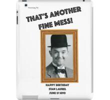 Stan Laurel Birthday Anniversary iPad Case/Skin