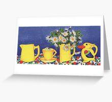 Daisies with Bird Jug Greeting Card