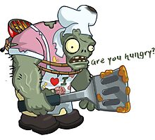 Are You Hungry Plans vs Zombies Photographic Print