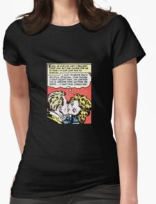 Comic Book Kiss - Romance and Political Tolerance Womens Fitted T-Shirt
