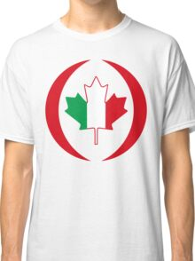 Italian Canadian Multinational Patriot Flag Series Classic T-Shirt
