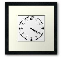 Clock at 4:20 - Marajuana Framed Print