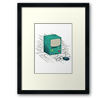 old console Framed Print