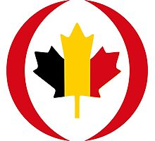 Belgian Canadian Multinational Patriot Flag Series Photographic Print