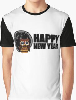Happy New Year - Owl Graphic T-Shirt