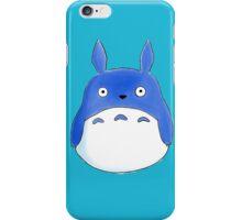 blue chibi totoro iPhone Case/Skin