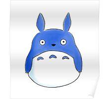blue chibi totoro Poster