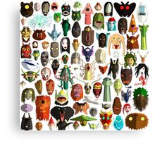 85 World Monster Faces Canvas Print
