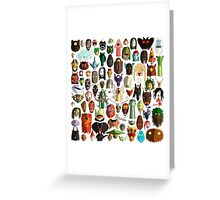 85 World Monster Faces Greeting Card