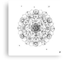 Shiva Meditation Mandala Original Drawing Canvas Print
