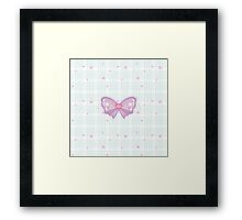 Kawaii Sparkling Ribbon Framed Print