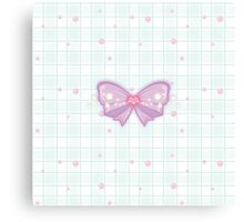 Kawaii Sparkling Ribbon Canvas Print