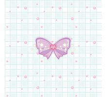 Kawaii Sparkling Ribbon Photographic Print