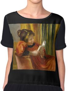 Auguste Renoir - Girl Reading . 1890 Auguste Renoir  Chiffon Top