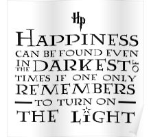 Happiness - Harry Potter quote Poster